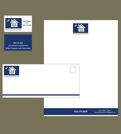 Crescent Home Services Logo/Identity Package