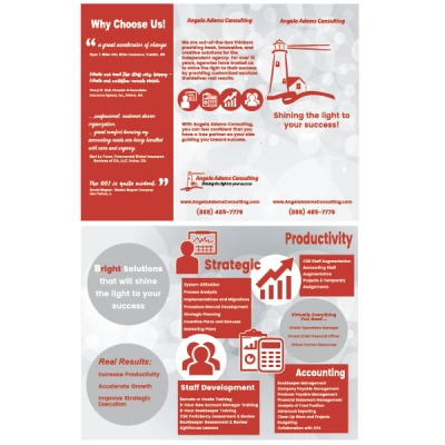 Angela Adams Consulting Trifold Brochure