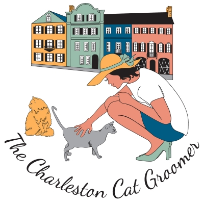 The Charleston Cat Groomer - logo